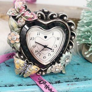 Brighton MultiColor Floral Butterfly Clock RARE!